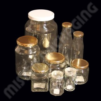 Glass Bottles Jars and Lids